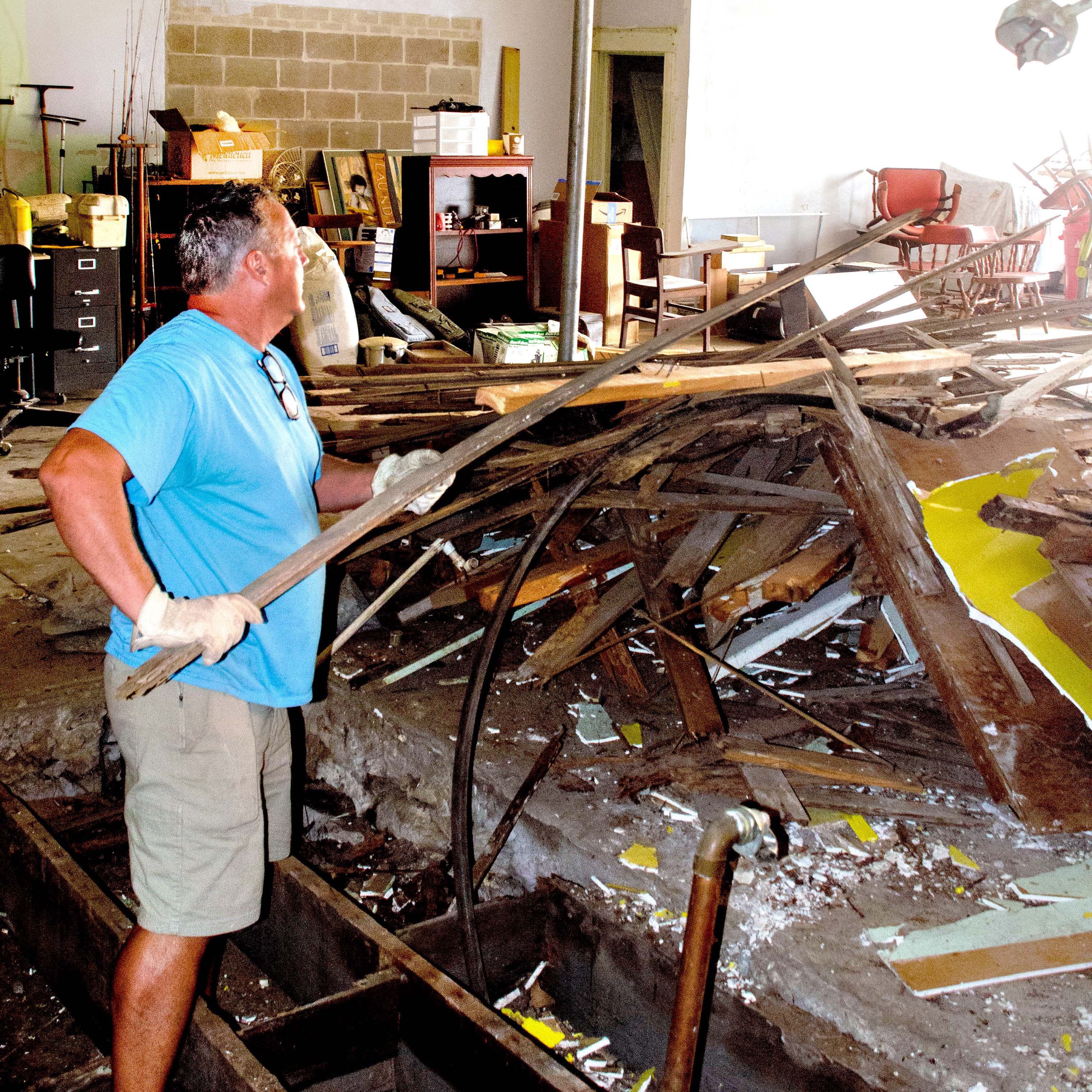 Peggy Brandt, left, and Genny Abrahams share a laugh in the back of Et Cetera Shop, a non-profit thrift store that has been in Hillsboro for 37 years. Brandt and Abrahams and other volunteers clean and polish donated items before making them available for sale. In November, Et Cetera donated $10,000 to local and international relief causes, including $7,000 for the Mennonite Central Committee to help with worldwide hunger and disaster recovery needs. Et Cetera also contributed $1,000 toward Main Street Ministries and $2,000 toward Hillsboro Elementary playground equipment, said shop manager Carol Abrahams.